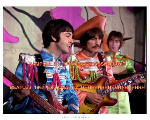 BEATLES SGT PEPPERS OUTFITS HELLO GOODBYE FILM. 8 X 10 KO-DAK PHOTO EXC #2