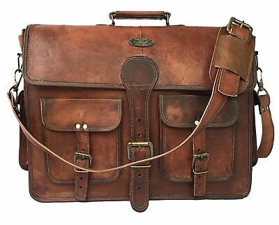 Leather Laptop Briefcase Bag Messenger Satchel 16 Inch Best Handmade Leather