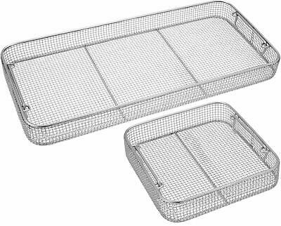 Sterilization Basket Tray Insert Mesh Autoclave Various Sizes Stainless Steel