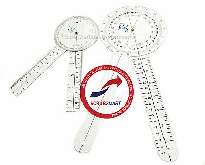 Us Seller New 2 Piece Set Lot Physical Therapy Goniometer 12 Inch And 8 Inch