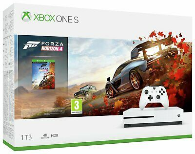 Microsoft Xbox One S 1TB 4K Console with Forza Horizon 4 Bundle - White