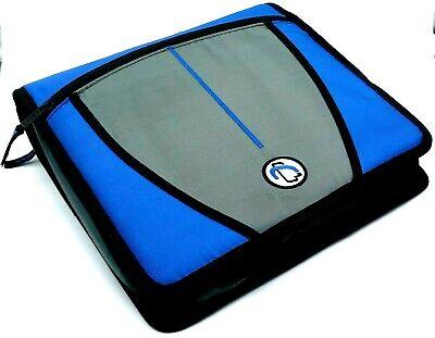 Case-it Mighty Zip Tab 3 Ring Binder 3capacity File Handle Shoulder Strap