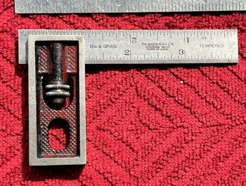 """VINTAGE LUFKIN RULE MACHINIST'S DOUBLE SQUARE WITH A NO.4 GRAD 4"""" TEMPERED RULE"""