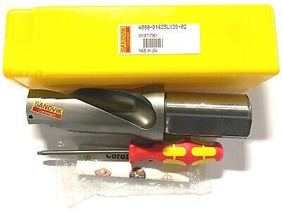 U-drill Sandvik Indexable Insert Drill 1-58 Dia Coolant Thru Corodrill