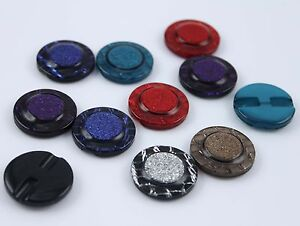 60 Resin Shimmering Mixed Colors Round Buttons for Sewing Craft 25mm 1''