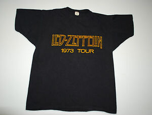 VINTAGE-LED-ZEPPELIN-73-TOUR-SHOWCO-T-SHIRT-1973-1970S-L-ORIGINAL-SHOWCO