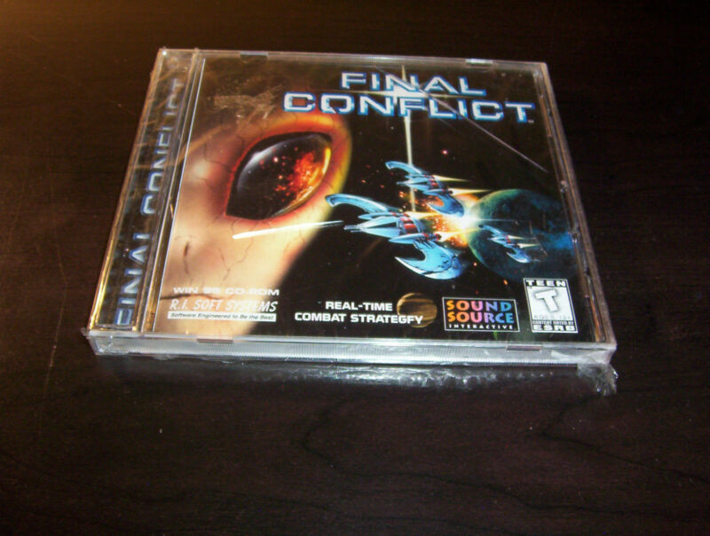 FINAL CONFLICT REAL TIME COMBAT STRATEGY SCIENCE FICTION PC CD ROM GAME NEW