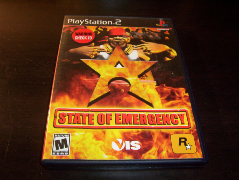 STATE OF EMERGENCY ROCKSTAR GAMES SONY PLAYSTATION 2 PS2 COMPLETE