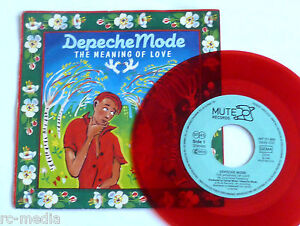 DEPECHE-MODE-The-meaning-Of-love-Rare-German-Red-Vinyl-7-Picture-sleeve