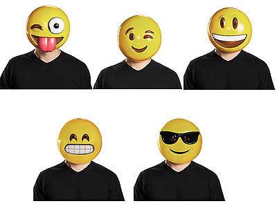 Costume Face Masks (Adult Emoji Smiley Face Emoticon Costume)