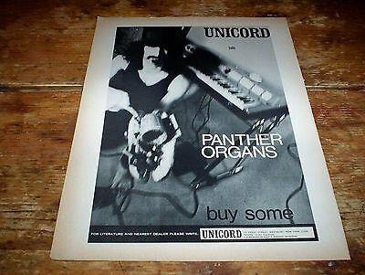 "FRANK ZAPPA ( PANTHER ORGAN ) RARE 1966 Vintage 8"" x 11"" US magazine PROMO Ad NM"