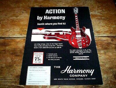 HARMONY GUITARS ( H-79 ~ 12 string Electric ) ORIG 1967 Vintage PROMO Ad NM-