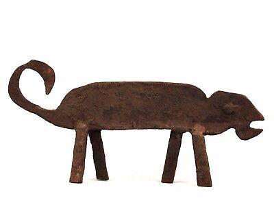 Art African Arts Premiers - Antique Chameleon forged iron Lobi - 23,5 ms