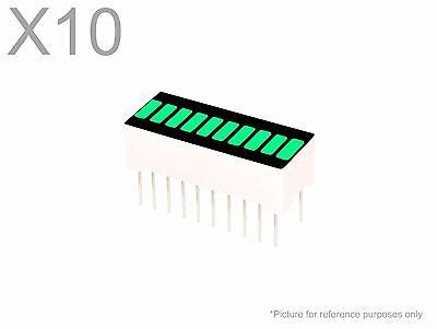 10 Pcs Pure Green Led 10-segment Bargraph Array Display New Bright Bar Graph