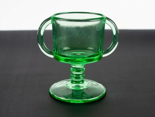 Imperial 179 Green Oval Toothpick Holder, Antique c1920s Footed Cigarette Holder