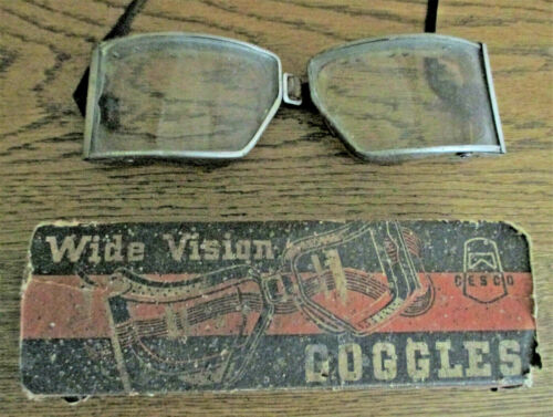 Vintage Chicago Cesco Safety Glasses Goggles w/ Original Box
