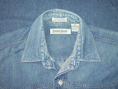 Chemise en jean steeple chase (usa/canada), taille s --- (cj_209)