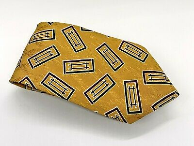 Chaps Ralph Lauren Tie Gold Black Polka Dot Silk 57 x 4 USA 1900 Ties 4 (Ralph Lauren Usa Sale)