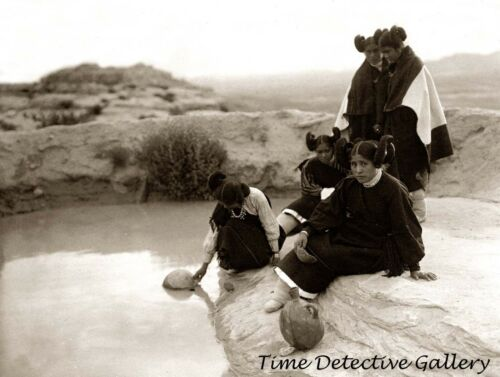 Native American Hopi Water Girls, Arizona - 1906 - Historic Photo Print