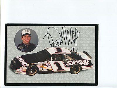Rick Mast NASCAR Driver Legend Signed Autograph Photo Driver Legend Signed