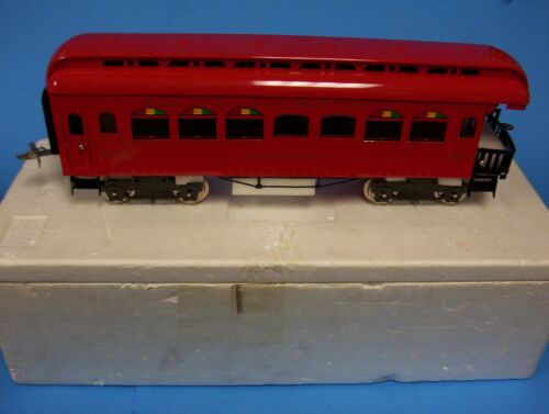 RARE Ives MTH Standard Gauge Tinplate #189-1 Red Observation Car *ST