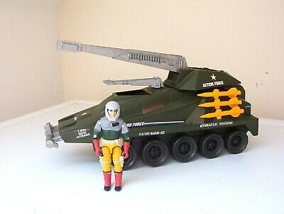 vintage Action Force/G.I.JOE PERSUADER vehicle & BACK-STOP figure
