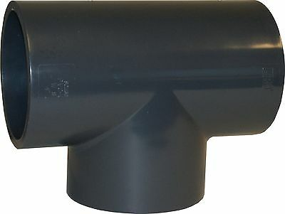 New Lot Of 5 Pcs. Sch 80 Pvc 6 Inch Straight Tee Socket Connect New Sch 80 Pvc