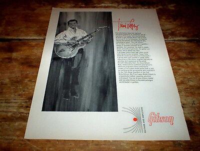TRINI LOPEZ ( GIBSON GUITARS ) 1966 Vintage magazine PROMO Ad NM-