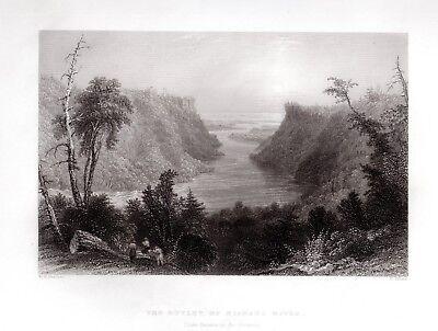 OUTLET NIAGARA RIVER, LAKE ONTARIO  Antique USA FREEPOST