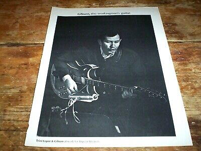 TRINI LOPEZ ( GIBSON GUITARS working man series ) Vintage magazine PROMO Ad NM-