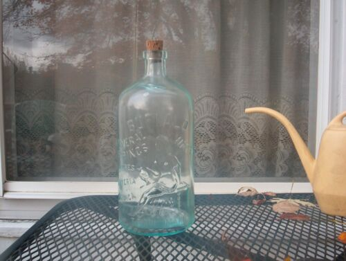 RARE *ANTIQUE  EMBOSSED BUFFALO MINERAL SPRINGS WATER BOTTLE** COMPLETE**