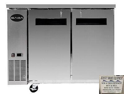 Saba 60 2 Door Commercial Undercounter Refrigerator Ss Steel Food Storage