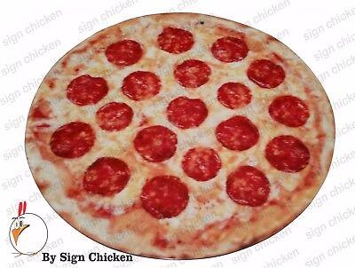 PIZZA SIGN, RESTAURANT SIGNAGE, ADVERTISING, PIZZERIA, DECOR, MAN CAVE, 11.75