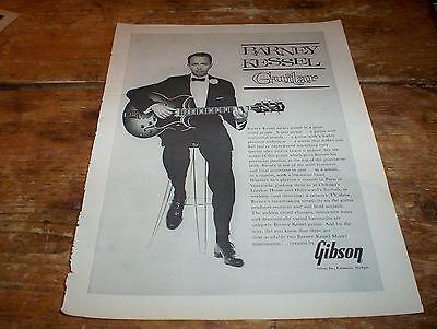 BARNEY KESSEL ( GIBSON GUITARS ) RARE Original 1962 U.S. Vintage magazine Ad NM-