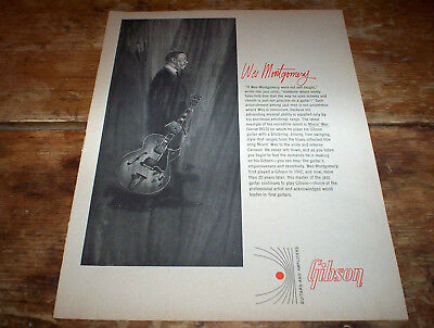WES MONTGOMERY movin' wes ( GIBSON GUITARS ) 1967 Vintage magazine PROMO Ad NM-
