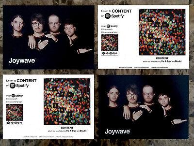 JOYWAVE Content 2017 Ltd Ed RARE New Postcards Lot +FREE Indie Rock Pop Stickers