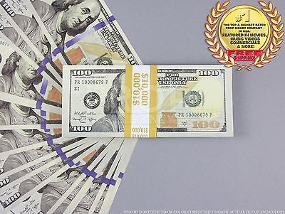 THE BEST PROP MONEY NEW Updated $100 $10,000 Full Print Stack for Movie, Video