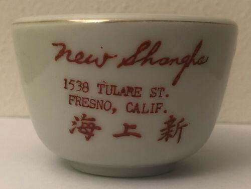 New Shanghai Chinese Restaurant Tea Cup Fresno California Vintage