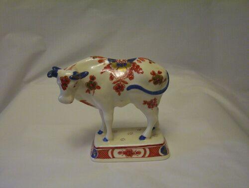 Royal Delft de Porceleyne Fles 1968 Bull Figurine Pijnacker Floral Decoration