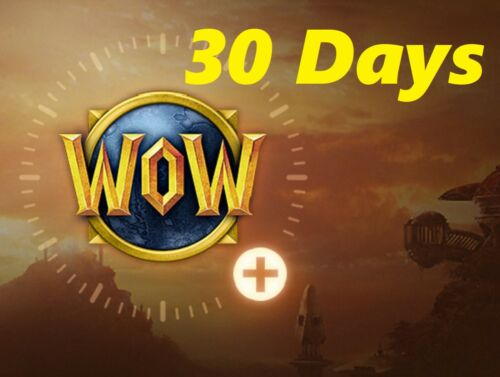 30-Day WOW Game Time Prepaid card - World Of Warcraft - US/Americans servers