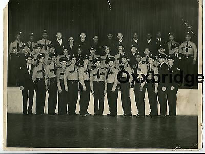 African American Police Officers Black & White Cops ORIGINAL 1950 Vintage Photo