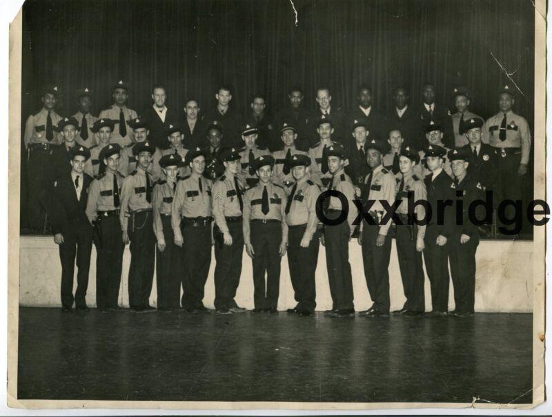 African American Police Officers Black & White Cops ORIGINAL 1950 Vintage Photo