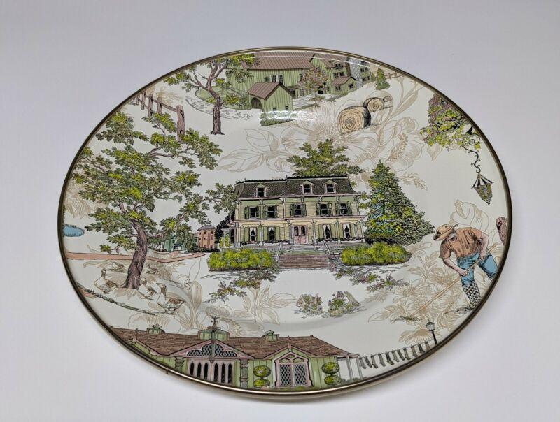 MacKenzie-Childs Aurora Dinner Plate - Vintage Farmhouse