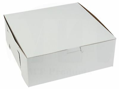 8 Length X 8 Width X 3 Height White Bakery Box By Mt Products Pack Of 15