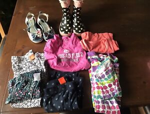 Girls size small clothes plus footwear size 13