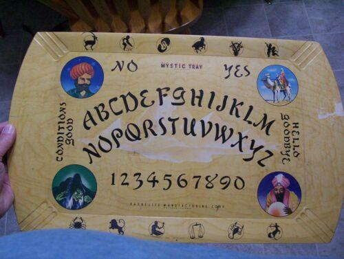 Hasko Mystic Board - Vintage c1940s - Haskelite Ouija Wood Tray Witch Halloween