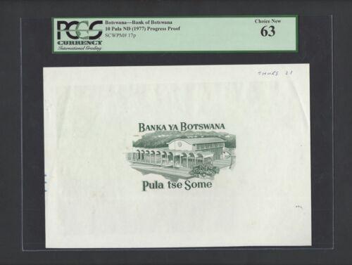Botswana 10 Pula ND (1977) P17p Proof Uncirculated