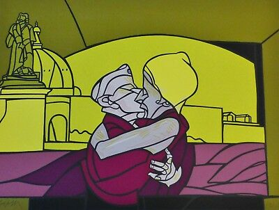 """Used, Valerio Adami  """"IL bacio"""" THE KISS  HAND SIGNED NUMBERED LIM.ED  LITHOGRAPH  for sale  San Diego"""