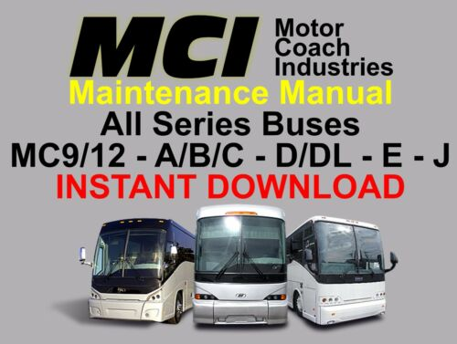 MCI Bus Manuals - Maintenance & Parts - Download Only