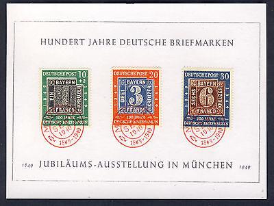 Bund 1949 MiNr: 113 114  115 FDC  Ersttagsstempel, auf Schmuckblatt Fälschung
